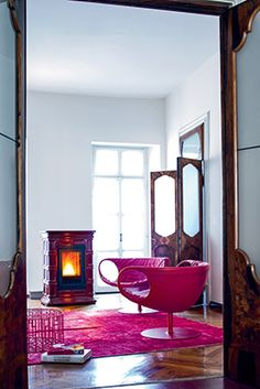 Sergio Leoni | Marlene P/N and Marlene P/I: pellet stove that can heat also the water of radiators