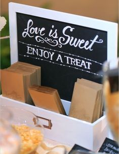 Personalized Wedding Candy Buffet Bags