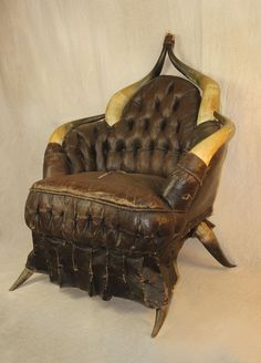 Antique Horn Chair