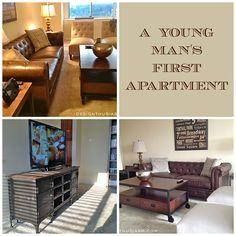Industrial living room ideas for a bachelor apartment | Bachelor pad decor | Apartment living room ideas | designthusiasm.com