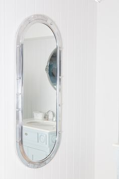 This is our Britiannaia Porthole mirror. This Mirror is hand cast in allumium then hand polished to give this polished metal look. The Porthole mirror can also be professionally powder coated in any colour to add a twist on our traditional style products. The In-wall cabinet comes with hinges and a handle. Glass shelves and any backing are not included. #porthole #mirror #luxurybathroom