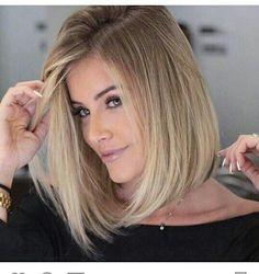 bob hairstyles with blonde highlights 2017 Blonde Balayage blonde Bob Hairstyles Highlights Straight Bob Haircut, Bob Haircut For Fine Hair, Bob Hairstyles For Fine Hair, Long Bob Haircuts, Haircuts For Fine Hair, Lob Hairstyle, Haircut And Color, Hairstyles 2018, Haircut Medium