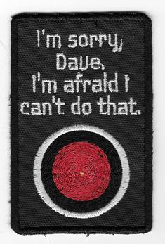 I'm Sorry Dave Patch by PopCulturePatches on Etsy