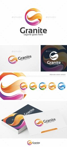 Granite / Letter G - Logo Template by putra_purwanto Granite / Letter G Logo Re-sizable vector 100 Editable text Easily customizable colors AI & EPS documents For any G Logo Design, Logo Design Template, Lettering Design, Logo Templates, Graphic Design, Gs Logo, Bts Design Graphique, Advertising Logo, Globe Logo