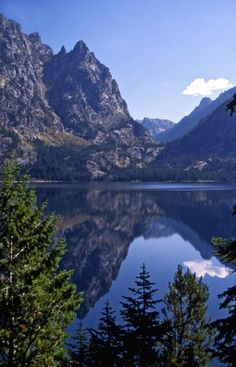 Jenny Lake, WY (in Grand Teton National Park), a beautiful place to hike. One of the prettiest lakes I've ever seen.