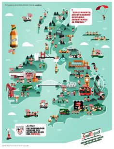es Map of Britain for San Miguel: Travel Maps, Travel Posters, Map Of Britain, Architecture Mapping, City Branding, Illustrator, Pictorial Maps, Graph Design, Map Globe