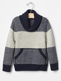 73a2d559db3b0 Single stripe shawlneck sweater Boys Clothes Style