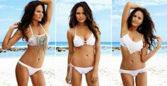 A beach stopper in these 2-piece bridal costumes.