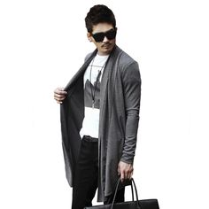2017 Fashion Sweater Cardigan Long Coat Men's Fashion Casual Tops Sweater Cardigan Men Slim New Hot Spring 2017 Overcoat New