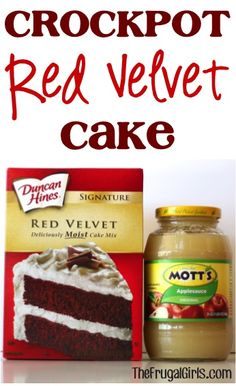 Crockpot Red Velvet Cake Recipe! ~ from TheFrugalGirls.com ~ the perfect festive sweet treat! #cakes #recipes #thefrugalgirls