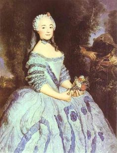 The Actress Babette Cochois, painted by Antoine Pesne in 1750