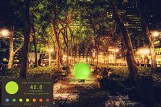 The Civic Spectrum - This public artwork is a behavior-change device that shows people how much electricity their city is using by lighting up in different colors. By katiepatrick.com and helloworlde.com #energyefficiency #nudge #environmentaldesign