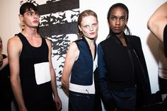 Backstage at Tim Coppens Spring 2015 runway show
