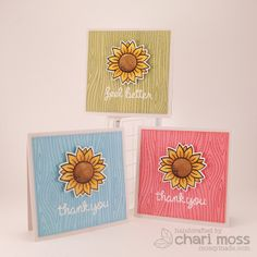 Lawn Fawn - Our Friendship Grows, Woodgrain Backdrops, Hot Cocoa Lawn Trimmings _ Sunflower Mini Cards by Chari