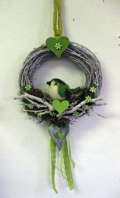 Türkranz  Meise - Nest - Frühling von kunstbedarf24 auf DaWanda.com