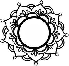 Monogramm-Mandala SVG