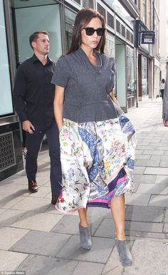 Here comes the boss! Victoria Beckham makes another appearance at her Dover Street boutique in London on Tuesday