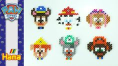 All puppies ► Paw Patrol | HAMA BEADS perler | Pixel art - Speed