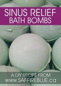 DIY Sinus Relief Bath Bomb Recipe | www.saffireblue.ca | @saffireblue