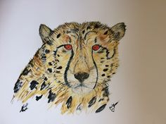 Beautiful Cheetah in Watercolour