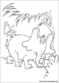 Free Printable Horton Hears A Who Coloring Pages For Kids Color This Online Pictures And Sheets Book Of