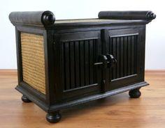 Rattansideboard TV-Bank HiFi-Sideboard asiatische Phono Möbel Sitzbank (Handarbeit) (klein)
