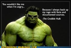 Hahaha I may have to use this in my classroom this year! I am the Credible Hulk!