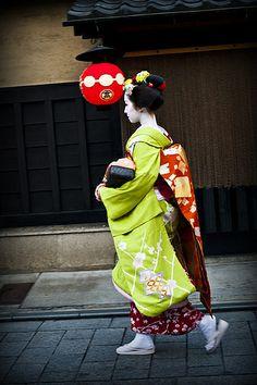 Maiko in Kyoto, Japan.