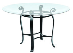 Camino Bar/Pub Table by Charleston Forge Made in USA Available in several heights http://www.charlestonforge.com/dining-tables/4806_Camino_Round_Dining_Table