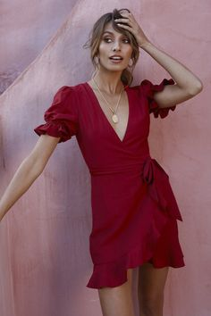 7883e9172aa Seems Like Yesterday Dress Wine. More information. More information.  Missyempire ...