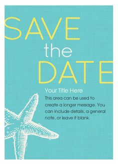 Starfish Save the Date designed by RUCHI on pingg.com