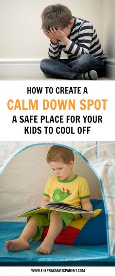 Help your child to calm down & manage their emotions with a dedicated cool off spot. A quiet space for them to get the sensory input they need to calm down.