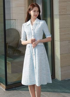 Kpop Fashion, Korean Fashion, Nice Dresses, Girls Dresses, Tulle Bridesmaid Dress, Sophisticated Outfits, How To Look Classy, Office Outfits, Girls Generation