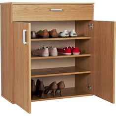 Buy HOME Venetia Shoe Storage Cabinet - Oak Effect at Argos.co.uk - Your Online Shop for Shoe storage, Storage, Home and garden.