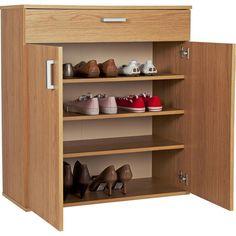 Buy HOME Venetia Shoe Storage Cabinet - Oak Effect at Argos.co.uk - Your Online Shop for Shoe storage, Storage, Home and garden.