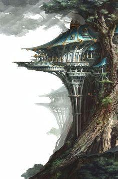Elven hall, Y Seul. Jeon ArtStation – Elven hall, Y Seul. Fantasy City, Fantasy Castle, Fantasy Places, Fantasy Map, Fantasy World, Fantasy Art Landscapes, Fantasy Landscape, Landscape Art, Fantasy Concept Art