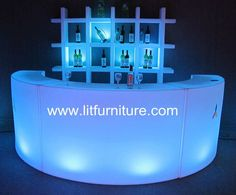 Mobile Bar, built from modular panels with touch sensor on the tabl ...