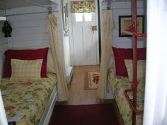 tiny house red caboose room