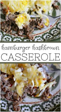 Hamburger Hash Brown Casserole is the perfect quick and easy dinner to throw together on a busy night. It will hit the spot! #Hamburger #HamburgerRecipes #HamburgerHashBrownCasserole #Casseroles
