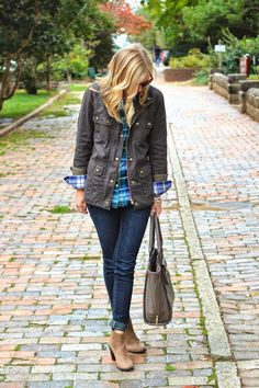 fun fall look - not comfortable with skinnies try a straight leg jean..