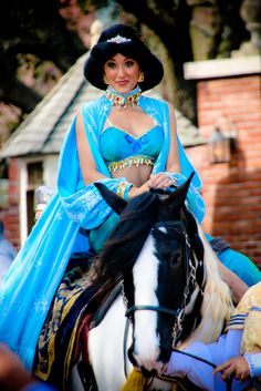Jasmine and her horse. For chestnuts you could transform your horse into a tiger since that's what Jasmine has. From the movie Alladin