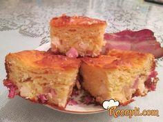 Recept za Pitu sa slaninom. Za spremanje ovog jela neophodno je pripremiti jaja, brašno, jogurt, mleko, prašak za pecivo, ulje, sir, slaninu.