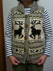 Ravelry: Cowichan Vest pattern by Yoko Hatta (風工房) Boys Knitting Patterns Free, Knitting For Kids, Knitting Ideas, Crochet Baby Hats, Crochet Clothes, Knit Crochet, Knit Vest Pattern, Sweater Patterns, Cowichan Sweater