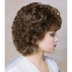 She doesn't look really happy with her new perm. - She doesn't look really happy with her new perm… Short Permed Hair, Curly Hair With Bangs, Curly Hair Cuts, Curly Wigs, Medium Hair Cuts, Short Hair Cuts, Medium Hair Styles, Curly Hair Styles, Feathered Hair Cut