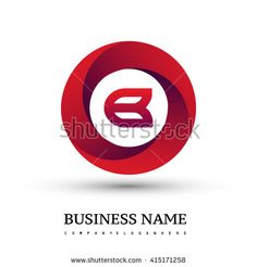 B letter logo in the red circle. Vector design template elements for your application or company identity. - stock vector