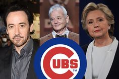 """A favorite subject of the cameras at Wrigley Field, Bill Murray can often be seen frowning in concentration at various Cubs games.  The Pearl Jam frontman is such a die-hard Cubbies fan, he even wrote a song (""""All the Way"""") for them, and announced Pearl Jam would no longer be touring in October, just"""