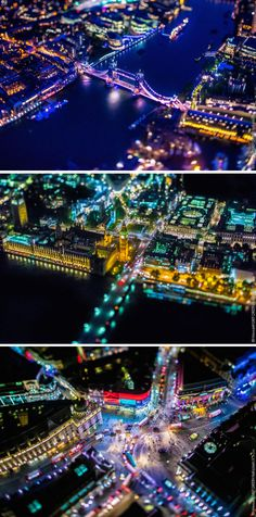 "As part of his series ""Air,"" photographer Vincent LaForet took these amazing and vibrant aerial shots of London."