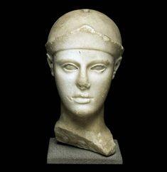 Head of Athena  470-460 BC Manufacturing: Aegina   Louvre Museum