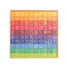 Counting with Colors is perhaps the most beautiful math-learning tool ever made! This wooden number chart from Grimm's Spiel & Holz of Germany features 200 colorful number and symbol tiles which can either be arranged within the included frame, or on any Tools For Teaching, Learning Tools, Teaching Math, Maths, Multiplication Chart, Number Chart, 100 Chart, Math Blocks, Wooden Numbers