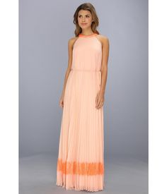 Be adorned in this Ted Baker™ Marryy Pleated Lace Maxi.. Beautiful lace accents at neckl and hemli...